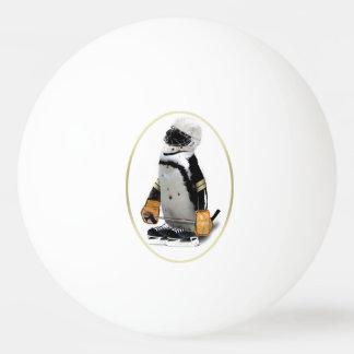 Penguin Wearing Hockey Gear Ping Pong Ball
