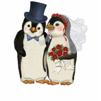 Penguin Wedding Acrylic Cut Outs