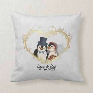 Penguin Wedding Bride and Groom - Customise