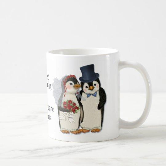 Penguin Wedding Bride and Groom Tie - Customise