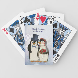 Penguin Wedding - Customize Bicycle Playing Cards