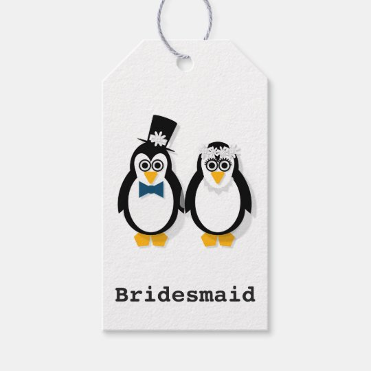 Penguin Wedding Gift Tags (customisable)