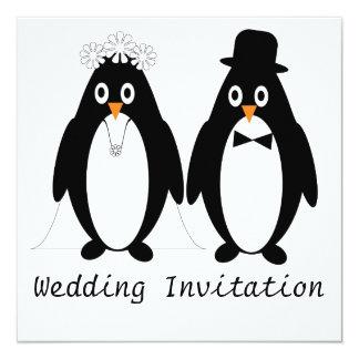 Penguin Wedding Invitation