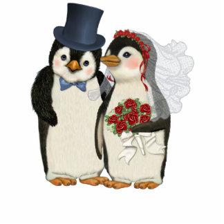 Penguin Wedding Standing Photo Sculpture