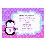 Penguin Winter Birthday Party Invitations
