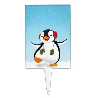 Penguin Winter Illustration - Cakepick Cake Toppers