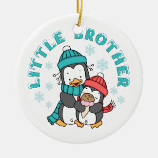 Penguin Winter Little Brother Christmas Ornament