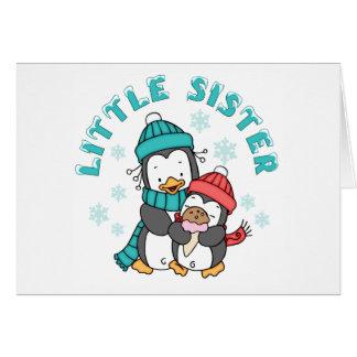 Penguin Winter Little Sister Card