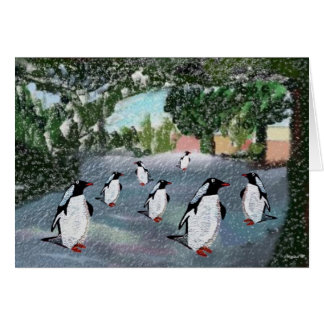 Penguin Winterwonderland Greeting Cards