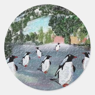 Penguin Winterwonderland Stickers