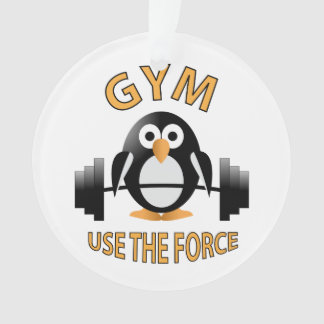 Penguin with a barbell