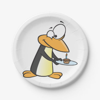 Penguin With A Cupcake Paper Plates