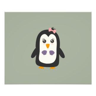 Penguin with bikini photo