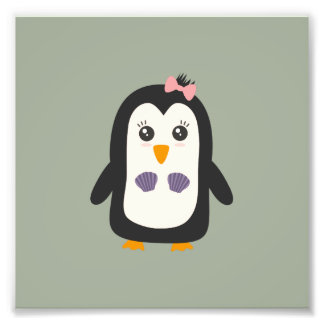 Penguin with bikini photograph