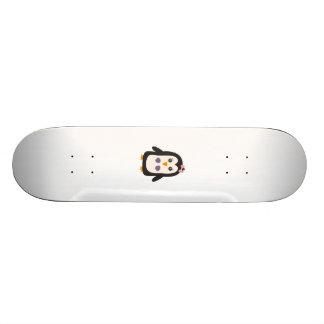 Penguin with bikini skateboards