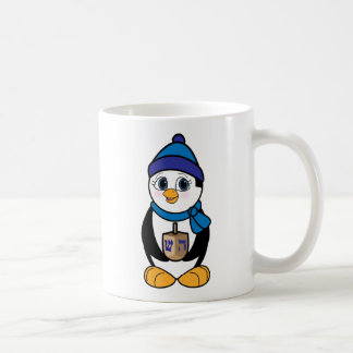 Penguin with Dreidel at Hanukkah Coffee Mug
