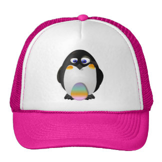 Penguin with Easter Egg Cap