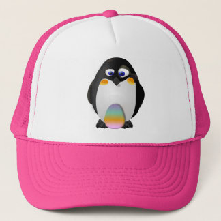 Penguin with Easter Egg Trucker Hat