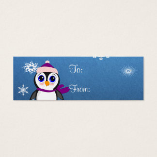 Penguin with  Hat Mini Business Card