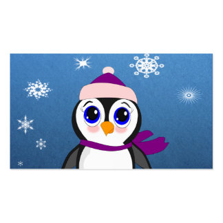 Penguin with  Hat Pack Of Standard Business Cards