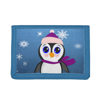 Penguin with  Hat Trifold Wallet