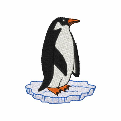 Penguin with ice