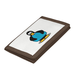Penguin with shirt tri-fold wallet