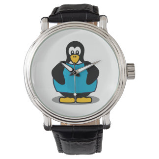 Penguin with shirt watch