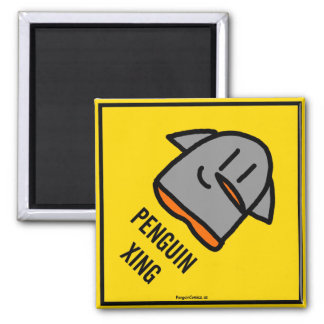 """Penguin XING"" 2 Inch Magnet"