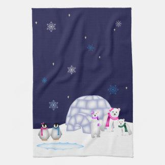 Penguins and Polar Bears Towel
