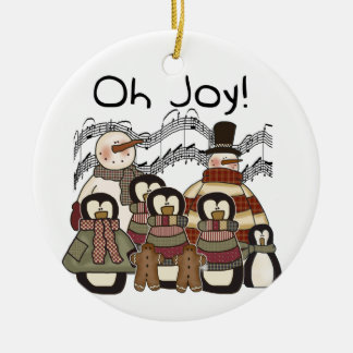 Penguins and  Snowmen Oh Joy Ornament