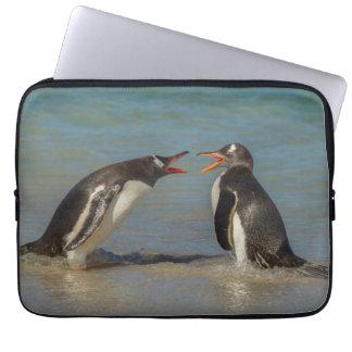 Penguins arguing, Falkland Islands Laptop Sleeve