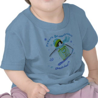 Penguins at Play Snowboarder Infant T-shirt