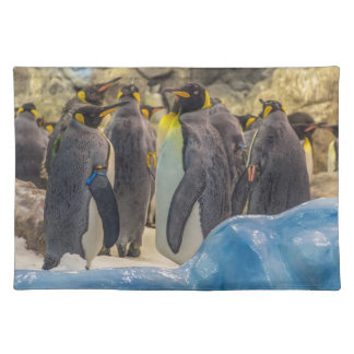 Penguins at the zoo placemat