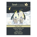 Penguins Birthday Party Invitations for Kids 13 Cm X 18 Cm Invitation Card