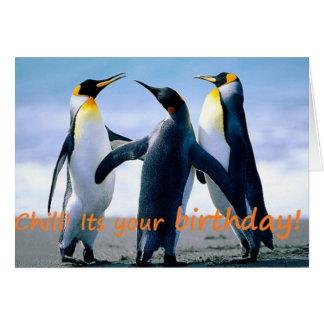 Penguin's brrrrilliant birthday card