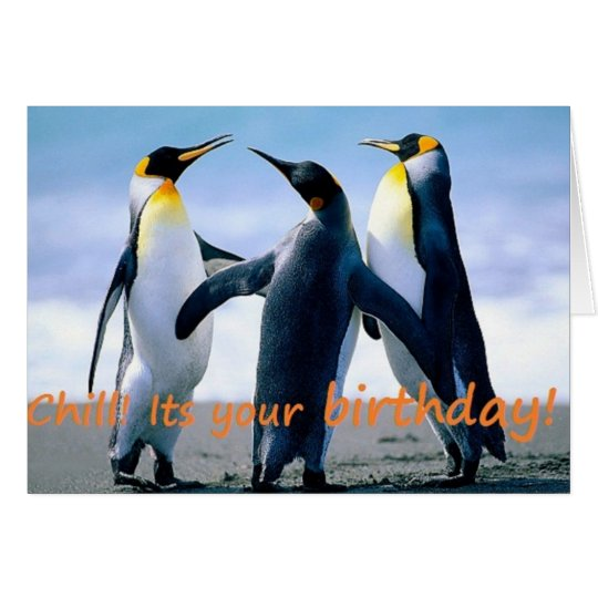 Penguin's brrrrilliant birthday card