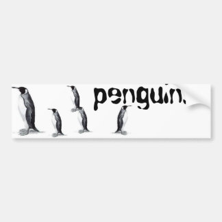 penguins.. bumper sticker