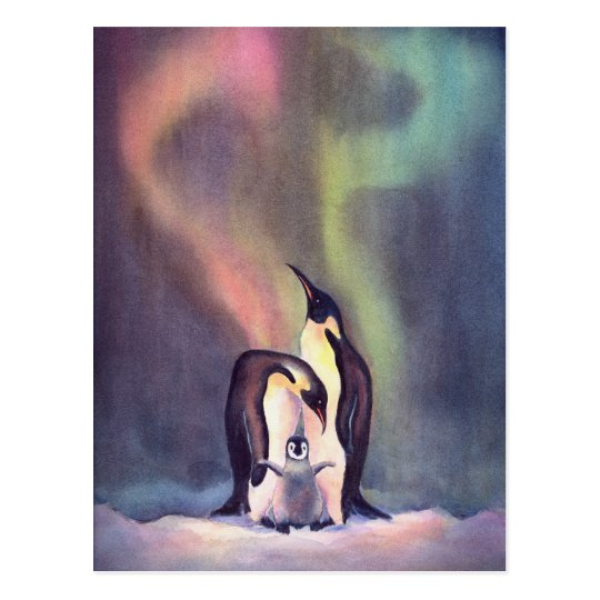 PENGUINS by SHARON SHARPE Postcard