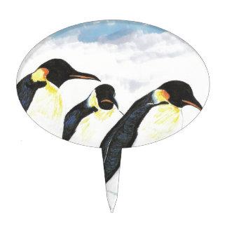 Penguins Oval Cake Picks