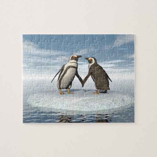 Penguins couple jigsaw puzzle