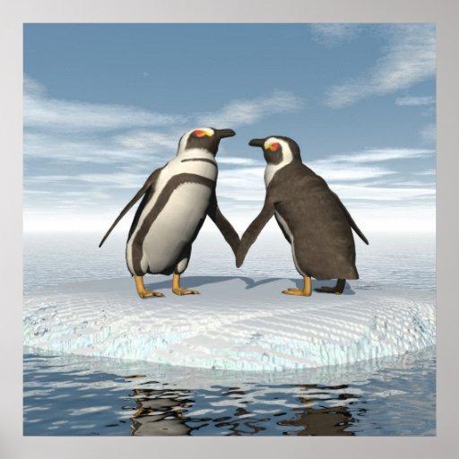 Penguins couple poster