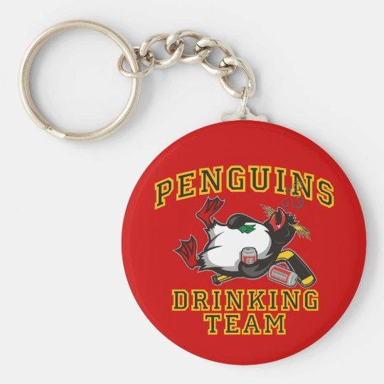 Penguins Driking Team Key Chain