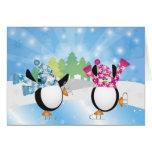 Penguins Figure Skating Card