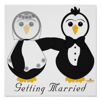 Penguins Getting Married Getting Married Poster