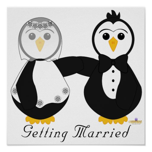 Penguins Getting Married Getting Married Posters