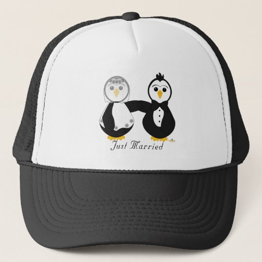 Penguins Getting Married Just Married Cap