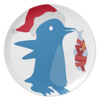 Penguin's gift plate