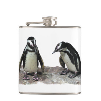 Penguins Hip Flask