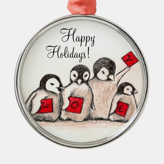 Penguin's Holiday Love Christmas Ornament
